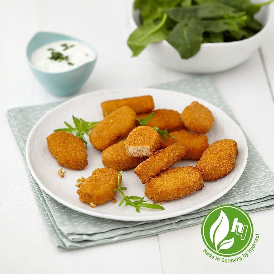 Hydrosol-produkte-produktuebersicht-vegetarisch-nuggets-mit-Veggie-Logo